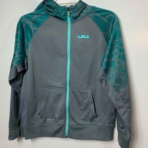 Nike LeBron James zip hoodie youth XL